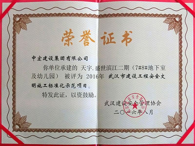 安全文明标准化示范项目-天宇盛世滨江二期