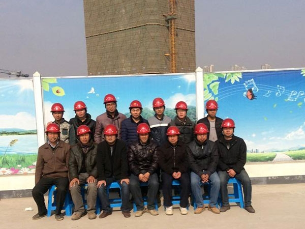 中宏建设集团绿地国博广场项目班组风采